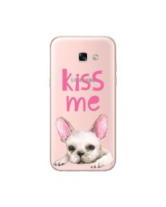 Husa Samsung Galaxy A5 (2017) Lemontti Silicon Art Pug Kiss