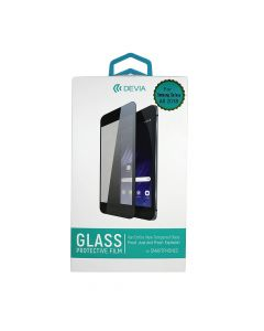 Folie Samsung Galaxy A8 (2018) Devia Frame Sticla Temperata Black