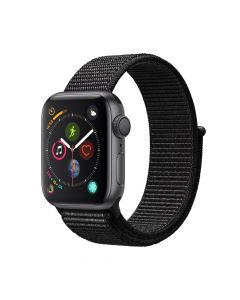Apple Watch 4 GPS Space Gray Aluminium Case 40mm cu Black Sport Loop