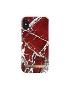 Carcasa iPhone X iDeal of Sweden Fashion Scarlet Red Marble
