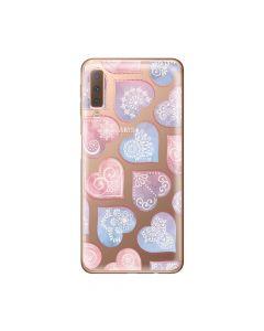 Husa Samsung Galaxy A7 (2018) Lemontti Silicon Art Hearts