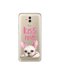 Husa Huawei Mate 20 Lite Lemontti Silicon Art Pug Kiss