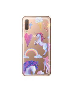 Husa Samsung Galaxy A7 (2018) Lemontti Silicon Art Unicorn