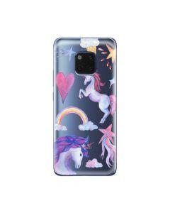 Husa Huawei Mate 20 Pro Lemontti Silicon Art Unicorn