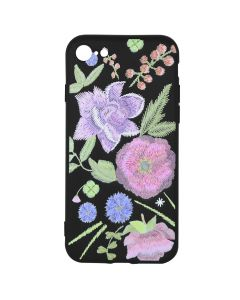 Husa iPhone SE 2020 / 8 / 7 Just Must Silicon Printed Embroidery Flowers