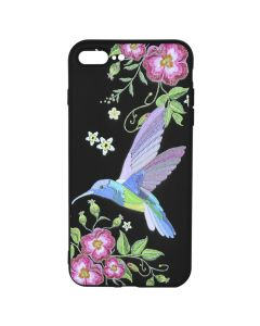 Husa iPhone 8 Plus / 7 Plus Just Must Silicon Printed Embroidery Colibri