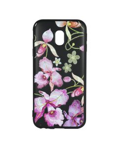 Husa Samsung Galaxy J3 (2017) Just Must Silicon Printed Embroidery Pink Flowers