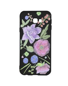 Husa Samsung Galaxy J4 Plus Just Must Silicon Printed Embroidery Flowers