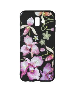 Husa Samsung Galaxy J6 Plus Just Must Silicon Printed Embroidery Pink Flowers