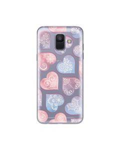Husa Samsung Galaxy A6 (2018) Lemontti Silicon Art Hearts