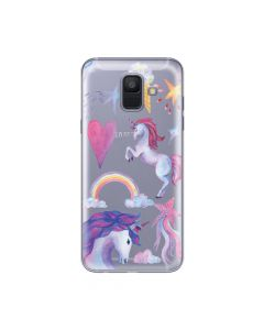 Husa Samsung Galaxy A6 (2018) Lemontti Silicon Art Unicorn