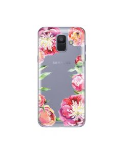 Husa Samsung Galaxy A6 (2018) Lemontti Silicon Art Flowers