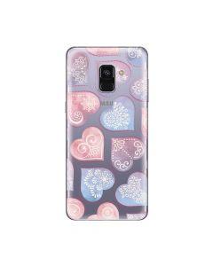 Husa Samsung Galaxy A8 (2018) Lemontti Silicon Art Hearts