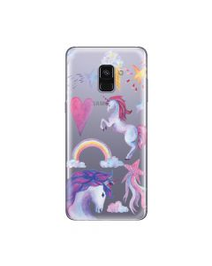 Husa Samsung Galaxy A8 (2018) Lemontti Silicon Art Unicorn