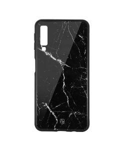 Carcasa Sticla Samsung Galaxy A7 (2018) Just Must Glass Print Black Marble