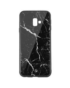 Carcasa Sticla Samsung Galaxy J6 Plus Just Must Glass Print Black Marble