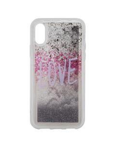 Carcasa iPhone XS / X Lemontti Liquid Sand Love