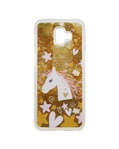 Carcasa Samsung Galaxy J6 Plus Lemontti Liquid Sand Unicorn Glitter