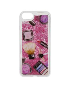 Carcasa iPhone 8 / 7 Lemontti Liquid Sand Makeup Glitter