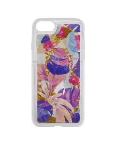 Carcasa iPhone 8 / 7 Lemontti Liquid Sand Floral Sunset