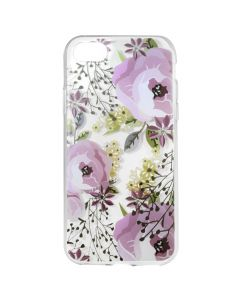 Husa iPhone 8 / 7 Lemontti Silicon Art Flowers