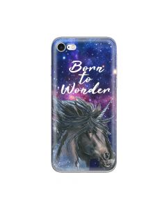 Husa iPhone 8 / 7 Lemontti Silicon Art Born To Wonder
