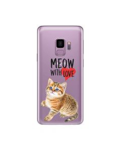 Husa Samsung Galaxy S9 G960 Lemontti Silicon Art Meow With Love