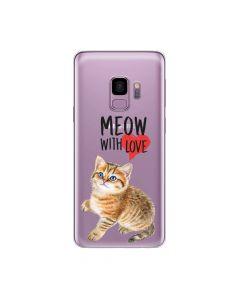 Husa Samsung Galaxy S9 G960 Lemontti Silicon Art Meow With Love