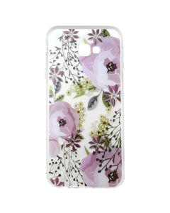 Husa Samsung Galaxy J4 Plus Lemontti Silicon Art Flowers