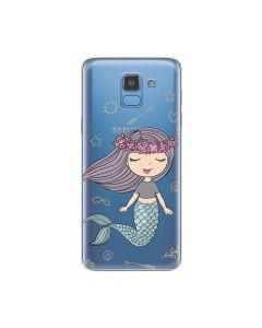 Husa Samsung Galaxy J6 (2018) Lemontti Silicon Art Little Mermaid