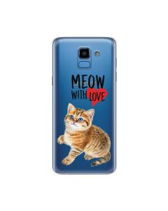 Husa Samsung Galaxy J6 (2018) Lemontti Silicon Art Meow With Love