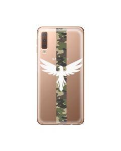 Husa Samsung Galaxy A7 (2018) Lemontti Silicon Art Army Eagle