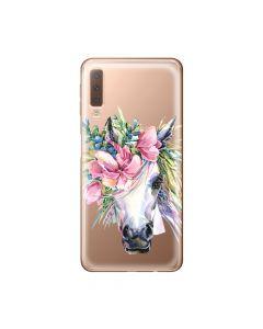 Husa Samsung Galaxy A7 (2018) Lemontti Silicon Art Watercolor Unicorn