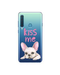 Husa Samsung Galaxy A9 (2018) Lemontti Silicon Art Pug Kiss