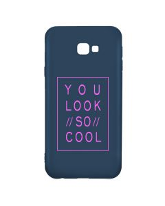 Husa Samsung Galaxy J4 Plus Lemontti Silicon Blue Silky Art You Look So Cool Magenta