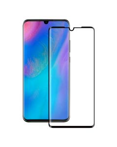 Folie Huawei P30 Eiger Sticla 3D Edge to Edge Clear Black