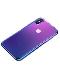 Husa iPhone X / XS Baseus Glow Transparent Black