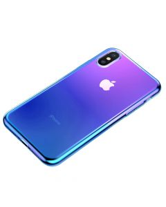 Husa iPhone X / XS Baseus Glow Transparent Blue