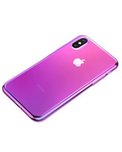 Husa iPhone X / XS Baseus Glow Transparent Pink