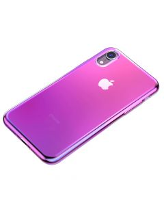 Husa iPhone XR Baseus Glow Transparent Pink