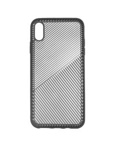 Carcasa iPhone XS Max Just Must Cross Line Gray