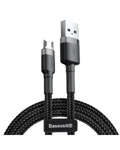Cablu USB la MicroUSB Baseus Cafule Series Gray & Black