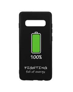 Husa Samsung Galaxy S10 Plus G975 Lemontti Silicon Black Silky Art 100% Fighting