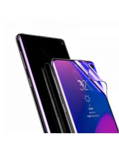 Folie Samsung Galaxy S10 Plus G975 Baseus Curbata Full Screen Anti-explosion Black (flexibila, 2 buc