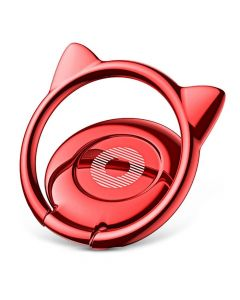 Suport Baseus Cat Ear Ring Bracket Red