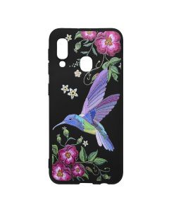 Husa Samsung Galaxy A20e Just Must Silicon Printed Embroidery Colibri