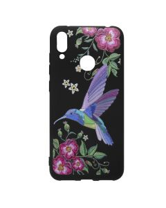 Husa Huawei Y7 2019 Just Must Silicon Printed Embroidery Colibri