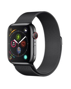 Curea Apple Watch 4 38mm / 40mm Devia Elegant Series Milanese Loop Space Black