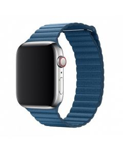 Curea Apple Watch 4 42mm / 44mm Devia Elegant Leather Loop Cape Cod Blue