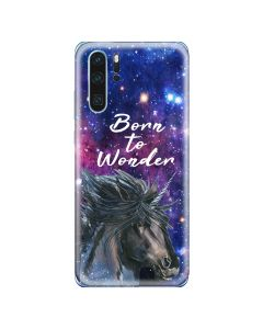 Husa Huawei P30 Lemontti Silicon Art Born To Wonder